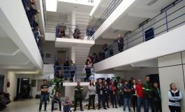 Trabalhadores da CASAN paralisam atividades no Dia Nacional de luta contra a privatização do saneamento