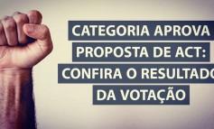 Categoria aprova proposta de ACT: Confira o resultado da votação