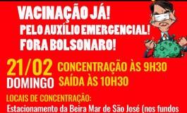 21/02  CARREATA E BICICLETAÇO FORA BOLSONARO EM SANTA CATARINA